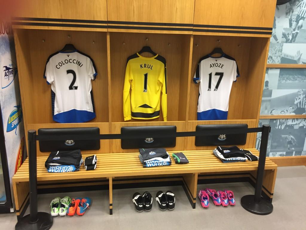 The home team dressing room.