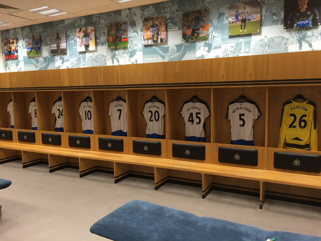 Another view of the home dressing room.