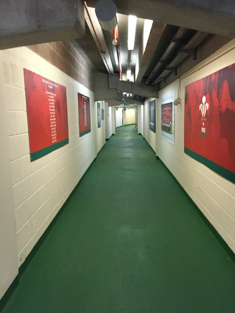 Looking down one of the tunnels inside the Stadium.