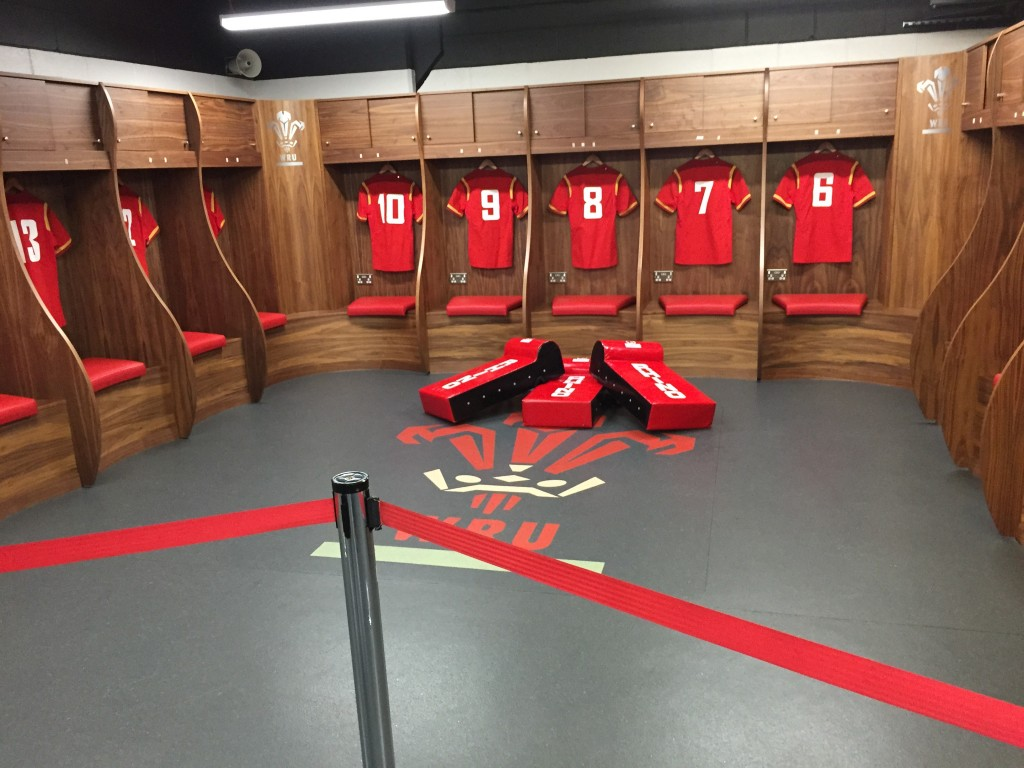 The Home changing room.
