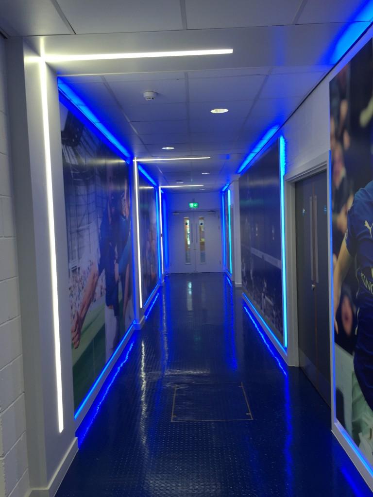 Love the blue lighting!